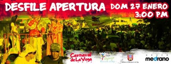 Opening Carnival Parade in La Vega Jan.27, 2013