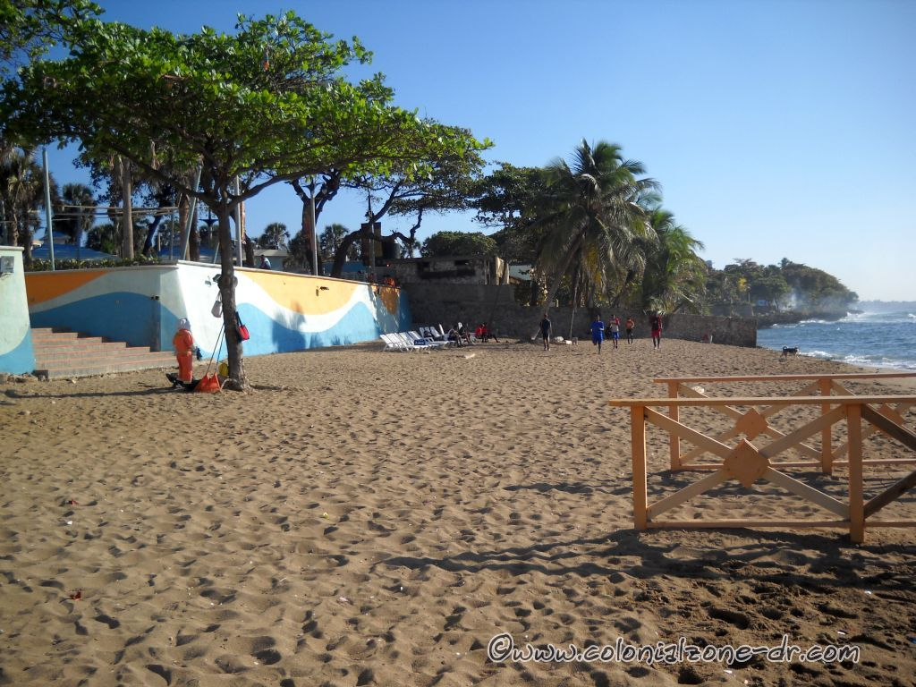 Playa at Guibia. This beach will be closed but the street will be blocked in front and filled with pools and sand.