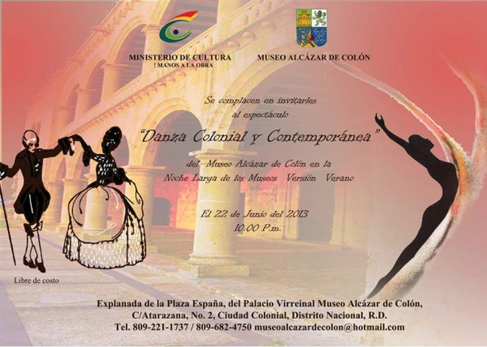 Contemporary and Colonial Dance Show during the Long Night of Museums.