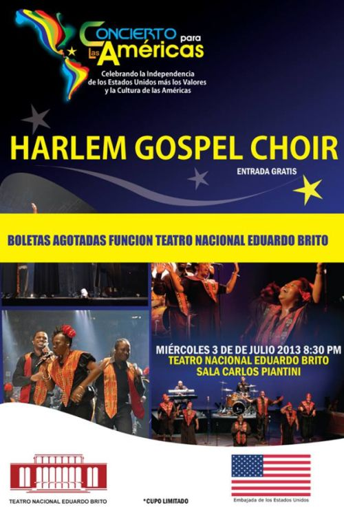 Harlem Gospel Choir in Dominican Republic celebrating USA Independence Day. 2013