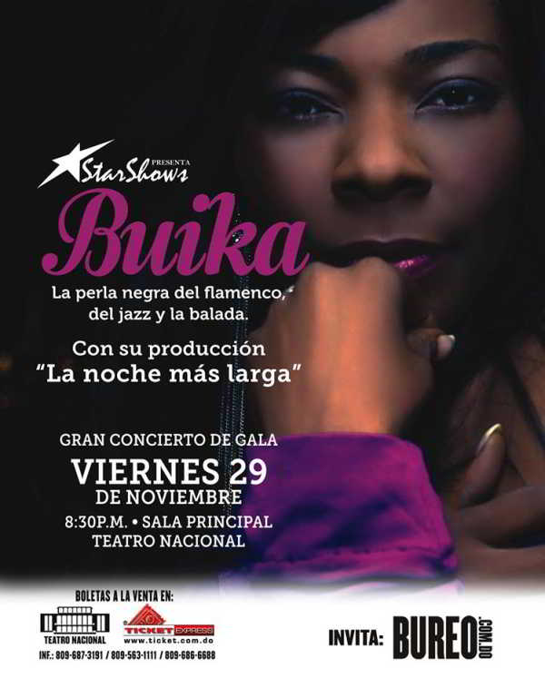 Buika at Teatro Nacional 11-29-2013