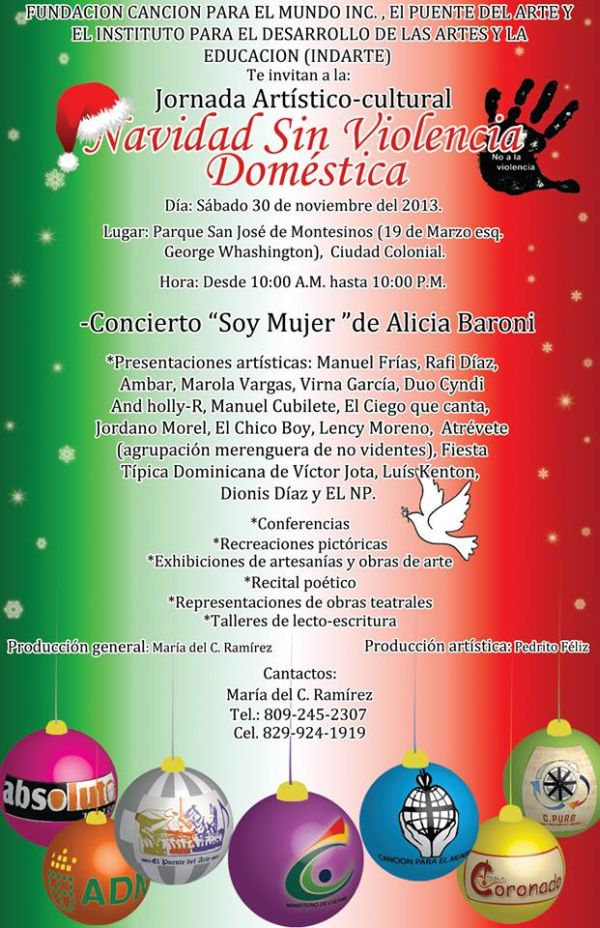 """""""Navidad sin Violencia Doméstica"""" / """"Christmas Without Domestic Violence"""" will be held at Parque San José de Montesinos, 11-30-2013"""