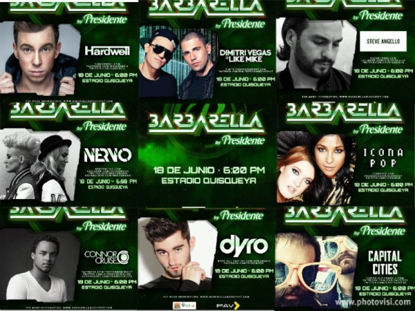 Barbarella by Presidente Line-up 6-18-2014