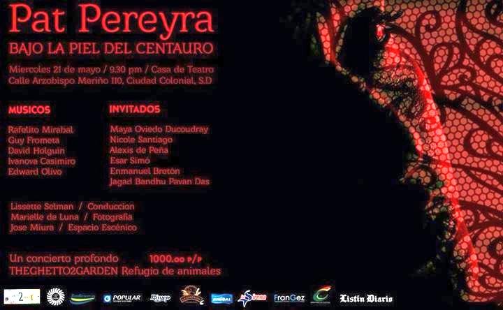 Patricia Pereyra Concert to benefit Ghetto 2 Garden Animal Refuge Center 5-21-2014