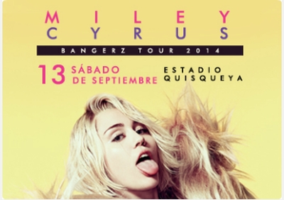 Miley Cyrus - Estadio Quisqueya - 9-13-2014