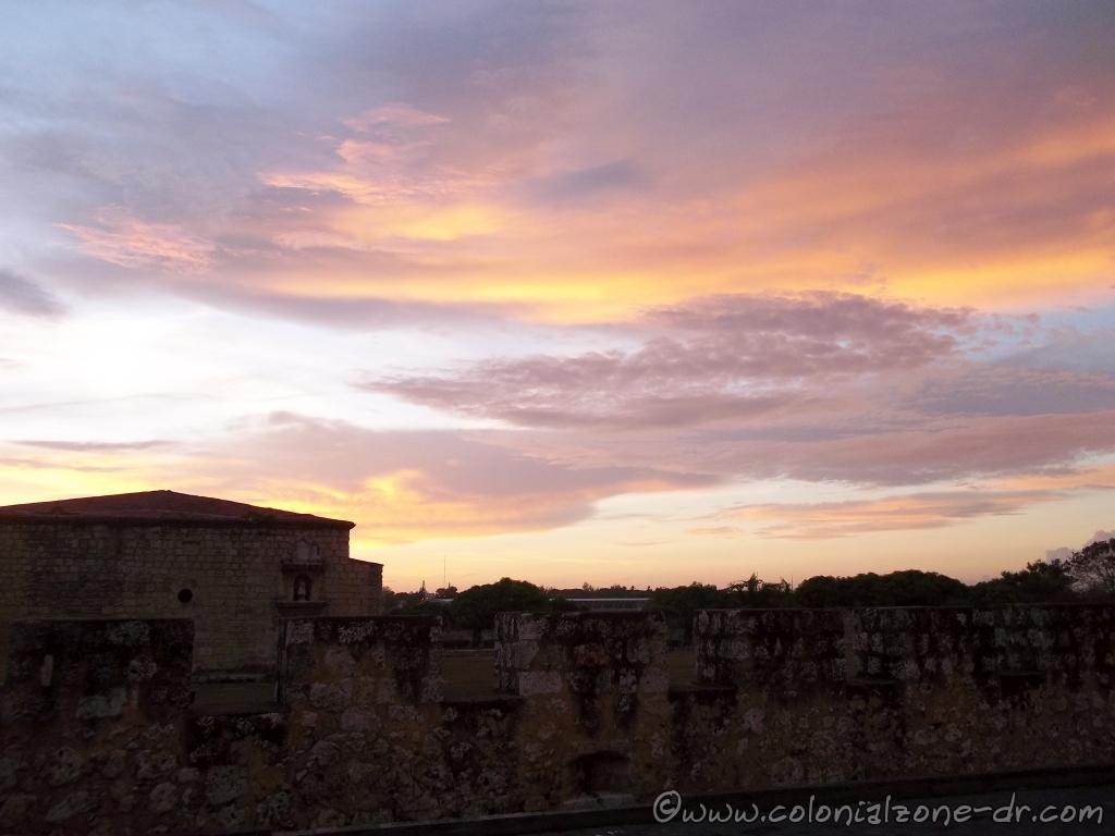 Sun rise over Fortaleza Ozama.