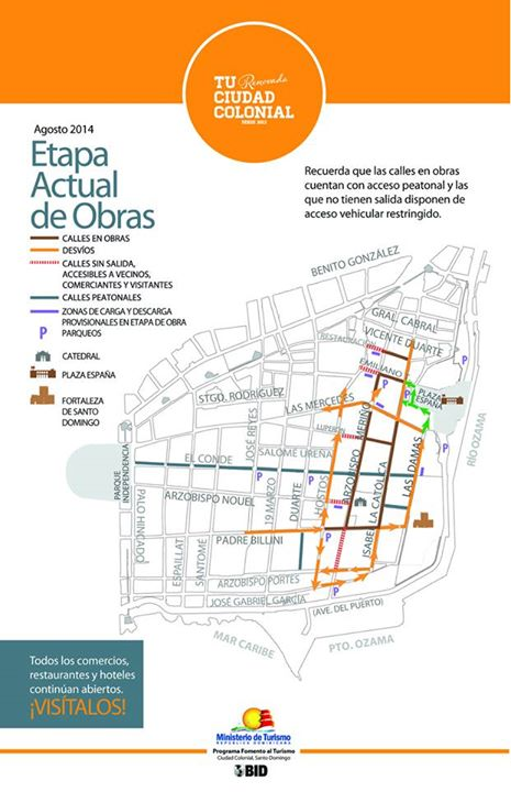 Roads under construction August 2014 - Calles en Obras Agosto 2014