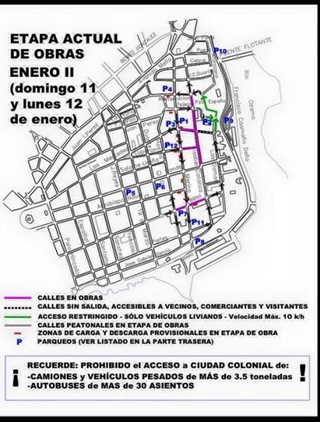 Calles en Obras II, Ciudad Colonial  - 1-2015