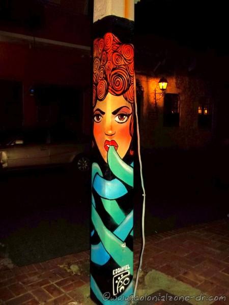 Art Postes de Luz in Parque Duarte.