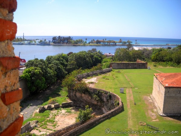 The view from high atop the Tower of Homage/ Torre del Homenaje in Fortaleza Ozama, Santo Domingo