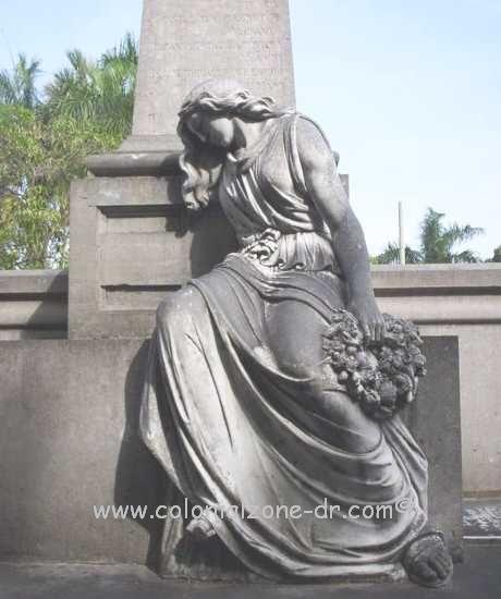 The moving monument to Lusia Ozema Cementerio Nacional de la Avenida Independencia/ National Cemetery on Avenue Independencia