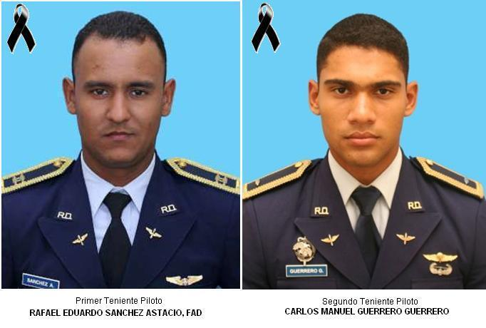 The young pilots who lost their lives Sanchez and Guerrero