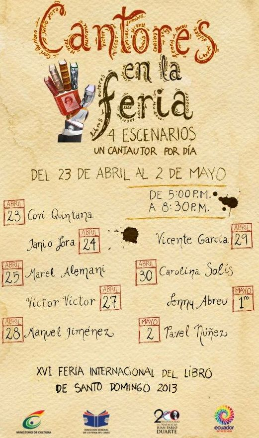 Singers Schedules at the Feria 2013