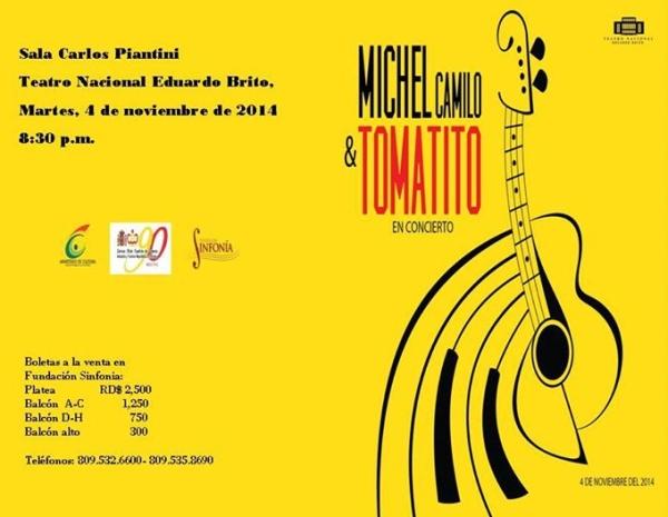 Michael Camilo & Tomatito In Concert November 4, 2014