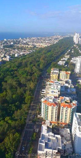 Parque Mirador del Sur from above.