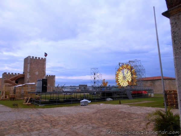 Setting up for the Corona Sunset Fest 2016 at the Fortaleza Ozama, Santo Domingo