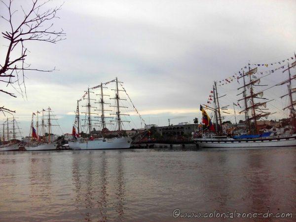 Ships in port Don Diego, Santo Domingo, for Velas Latinoamérica 2018.