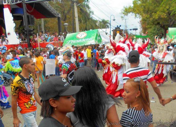 The crowds at Carnaval Vegano in La Vega, Dominican Republic