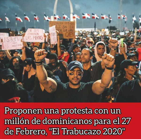 "Thousands of young people in different parts of the country, activists propose for the Independence Day a march of one million Dominicans entitled ""El Trabucazo 2020"""