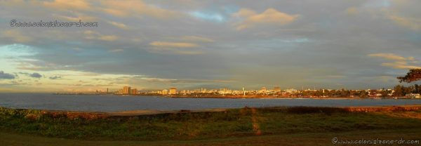 A panoramic view of the Santo Domingo coastline as seen from from Punta Torrecilla